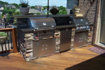 Outdoor Firepits Fireplaces And Grill Stations By Brandon
