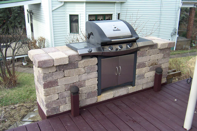 Design great design your landscape block prices for Outdoor cooking station plans