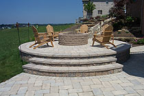 Raised Brussels Paver Patio photo