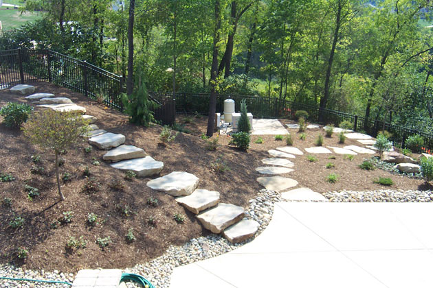 Rock landscaping by brandon landscape pittsburgh 39 s for Landscaping with rocks