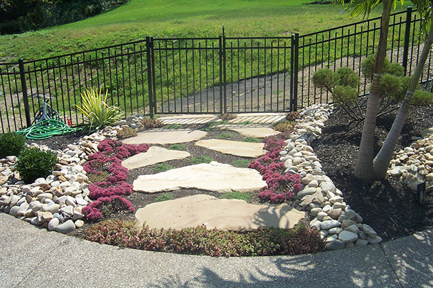 Rock landscaping by brandon landscape pittsburgh 39 s for Stone landscaping ideas