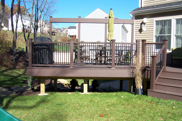 t rex deck with trellis wood decks structures accents by brandon landscape